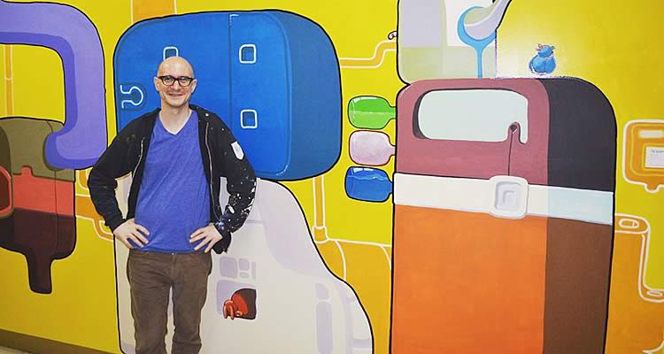 Artist Lawrence J. Ruell at Elmcor Youth and Adult Activities, Inc. in Queens, New York