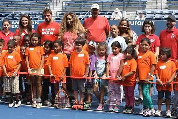 Serena Williams surprise campers at area youth camp group