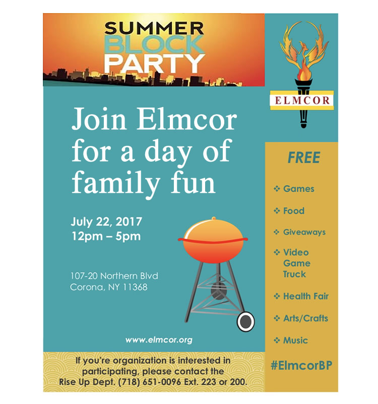 Elmcor's Summer block party July 22nd 2017