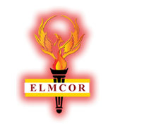 Elmcor Youth and Adult Activities, Inc. Logo with red glow