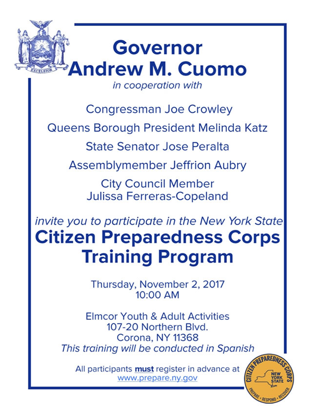 Citizen Youth For Citizen Preparedness Corps Training Program Elmcor Youth And Adult Activity Inc