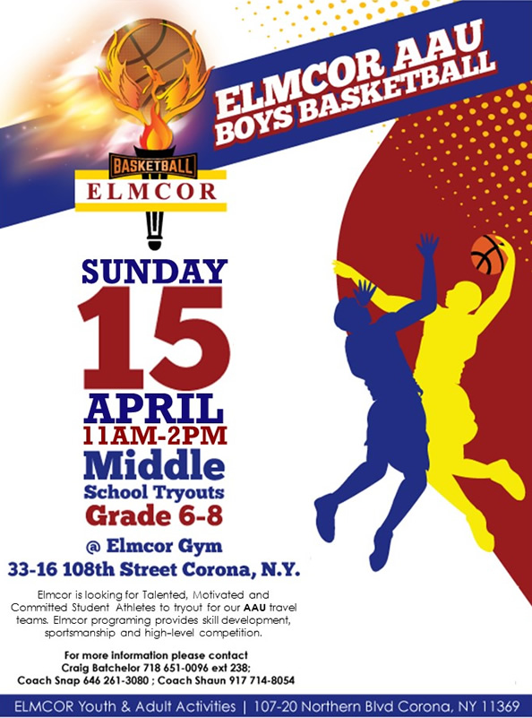 Elmcors AAU Boys Basketball Tryouts April 2018