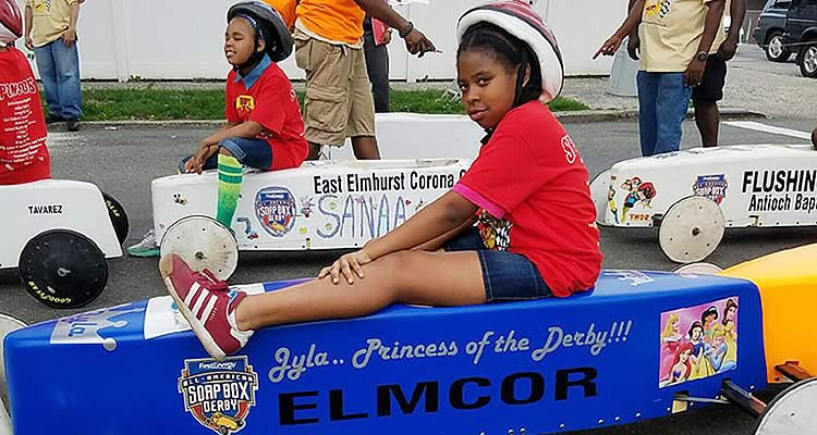 The Soapbox Derby with Elmcor participant