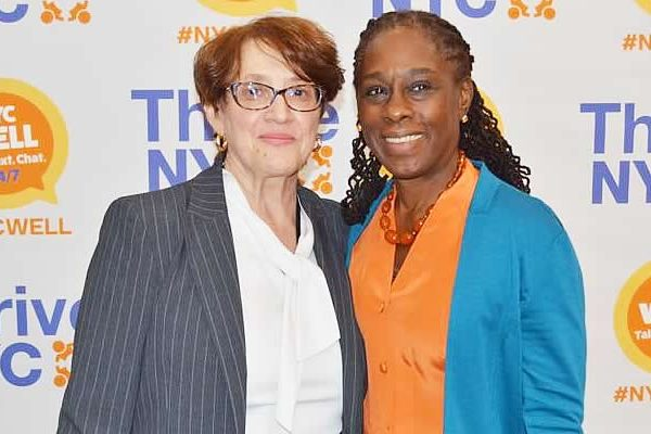 Chirlane McCray and Leanna Lee at Elmcor