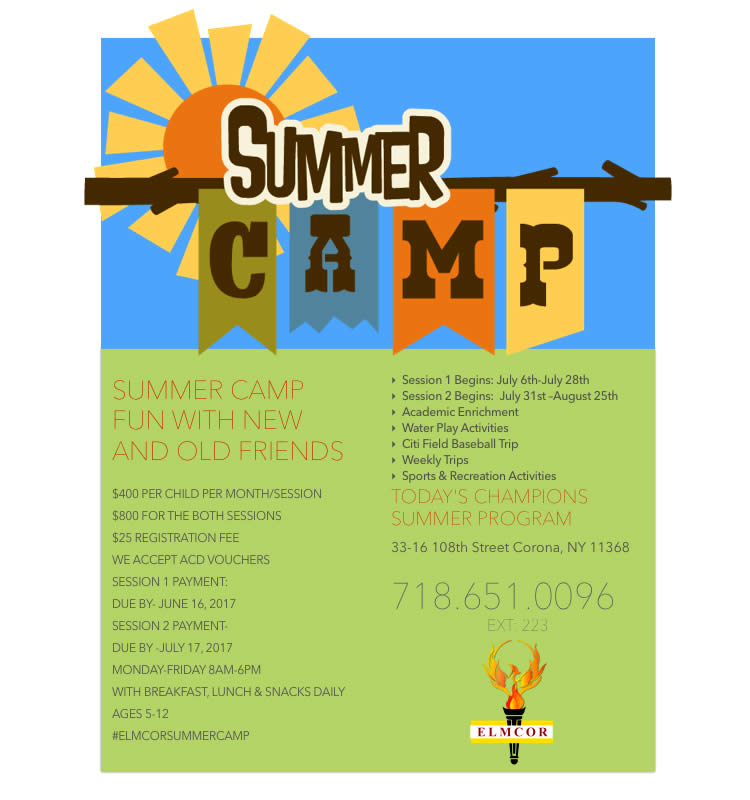 Summer Camp 2017 at Elmcor Youth and Adult Activities in Corona Queens - Today's Champions Summer Program