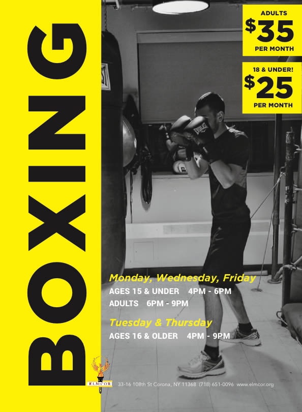 Boxing at Elmcor youth and adult activity Inc. in Corona New York
